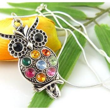 Collar Búho Multicolor