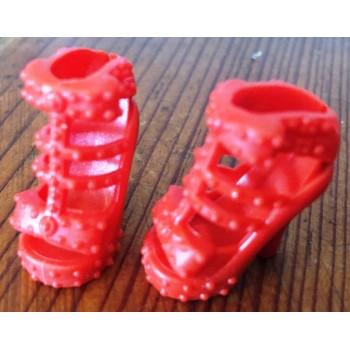 Zapatos De Tacón Rosa/Rojo...