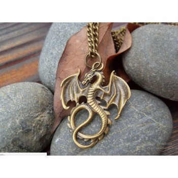 Collar dragón en cobre