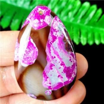 Ágata Lagrima Marrón y Purpura
