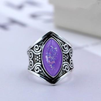 Anillo Con Lagrima Purpura
