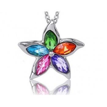 Collar flor multicolor