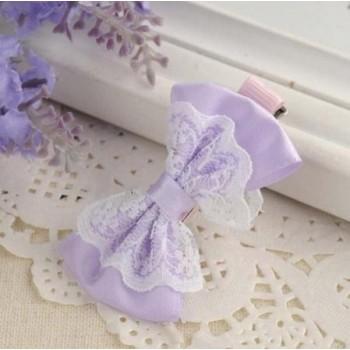 Clip de pelo lazo lila
