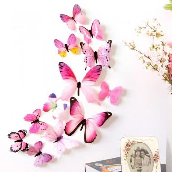 Pack 12 mariposas en 3D en...