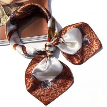 Pañuelo lazo mujer marrón MOD1