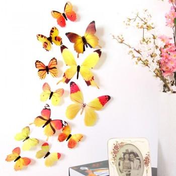 Mariposas en 3D amarillas