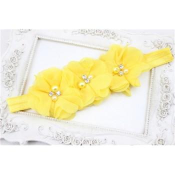 Diadema flores amarillas