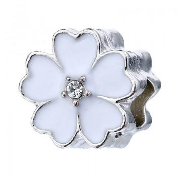 Charm PANDORA flor blanca...