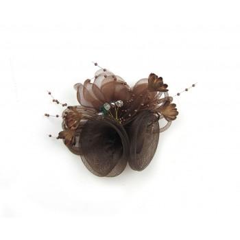Clip / goma de pelo flor en...