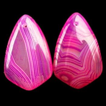 Ágata rosa veteada con Onyx