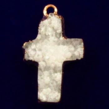 Cruz blanca de cristales de...