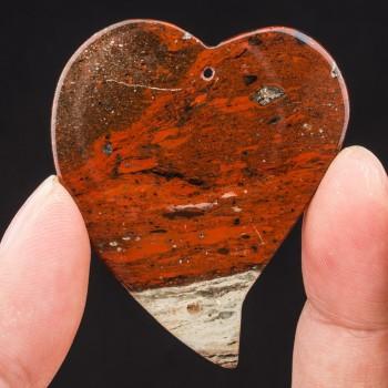 Corazón de Jaspe en rojo,...