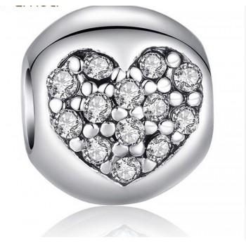 Charm corazón de diamante