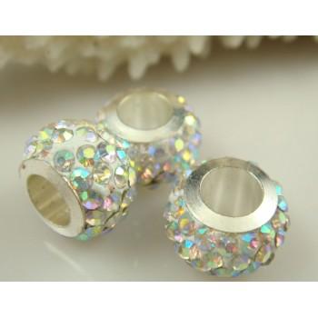 Charm aro en blanco diamante