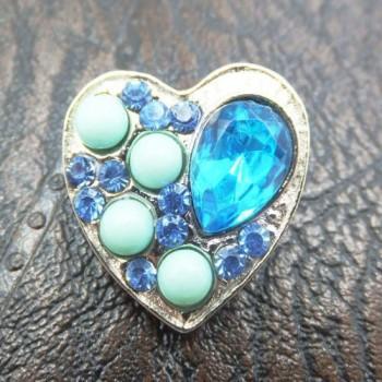 Charm Corazón Piedras Azul