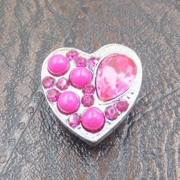 Charm Corazón Piedras Rosa