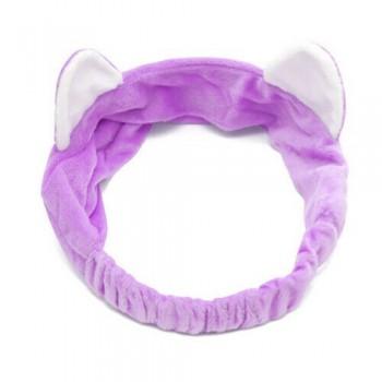 Diadema orejas de gato lila