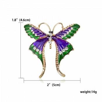 Broche mariposa multicolor