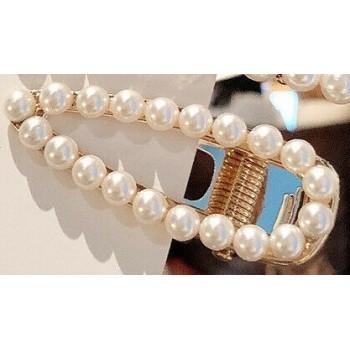 Pinza - Clip grande con perlas