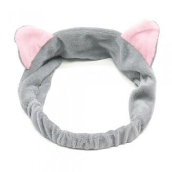 Diadema orejas de gato gris