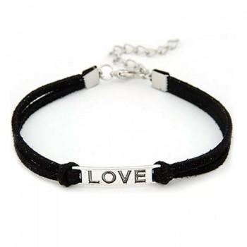 Pulsera en negro - LOVE