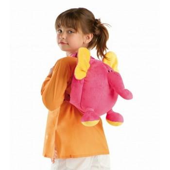 Mochila Infantil Elefante Rosa