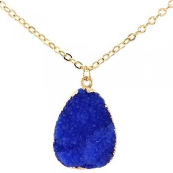 Collar Cuarzo Natural Azul