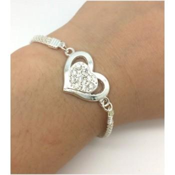 Pulsera corazón con cadena...